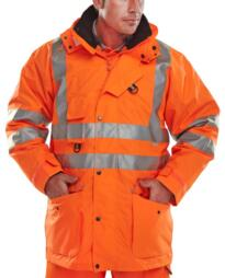 Elsener HiVis 7 in 1 Jacket - Orange