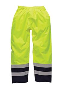 HiVis Dickies Two Tone Over Trousers - Yellow / Navy Blue