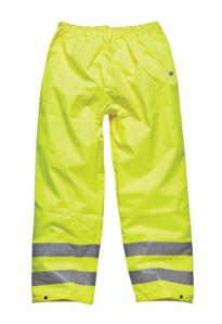 Dickies HiVis Over Trousers - Yellow