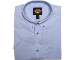 Dickies SH64250 Mens Oxford Short Sleeve Shirt - Light Blue