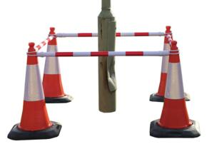 Telescopic poles for traffic cones - Red / White