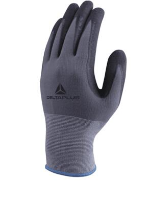 Polyamide Spandex Knitted Gloves Cut 1 (Pack of 12 Pairs) - Grey / Black