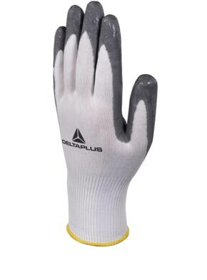 Soft and Foam Knitted Glove (Pack of 12 pairs) - White / Grey