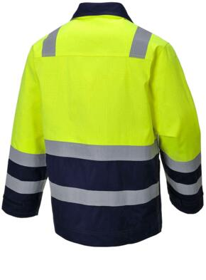 Hi-Vis Modaflame Jacket - Yellow / Navy Blue