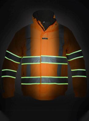India HiVis Glow in the Dark Waterproof Jacket - Orange