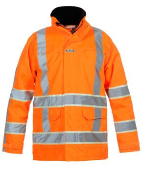 Italie HiVis Glow in the Dark Waterproof Parka - Orange