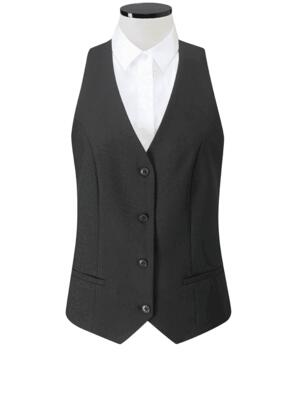Clubclass Events Ladies Wimbledon Waistcoat - Black