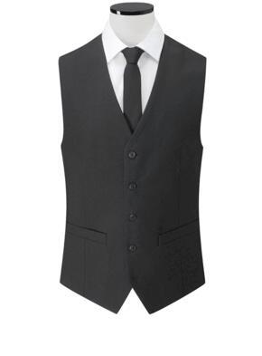 Clubclass Events Mens Oval Waistcoat - Black