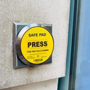 Veraco Anti Viral Safe Button - 90mm x 90mm