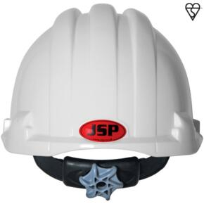 JSP EVO 8 Rail Safety Helmet - White